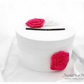 Wedding Money Card Box with Gorgeous Fabric Handmade Flowers