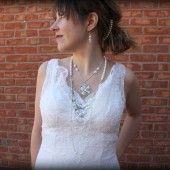Georgia Long Pearl Bridal Necklace