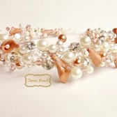 Rose Gold Wedding Headband by FancieStrands