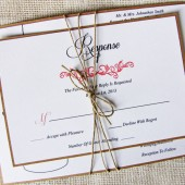 Modern Rustic Mason Jar Wedding Invitation Tied With Twine