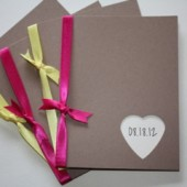 Kraft Wedding Programs with Mix and Match Ribbon