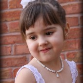 Charlotte pearl flower girl necklace