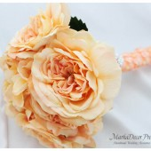 Brooch Bouquet Jeweled Bouquet in Peach