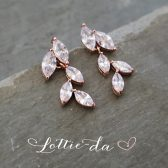 """Avita"" Bridal Earrings - Rose Gold, Gold, Silver"