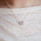 Silver Love Knot Necklace