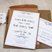 Rustic Typewrite Wedding invitation