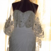 Lace and Crystal Drop Wedding Veil