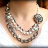 Zooey Vintage Bridal Statement Necklace