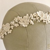 Ivory Floral Wedding Hair Vine by FancieStrands