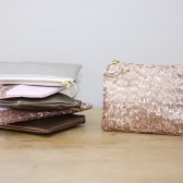 Bridesmaid Clutch Sequin + Leather Bag