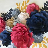 paper flowers for wedding and home decor