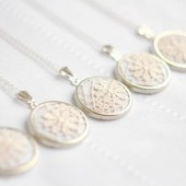 Bridesmaid necklace with ivory / cream lace