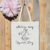 Cruise Ship Wedding Anchor Tote Bag