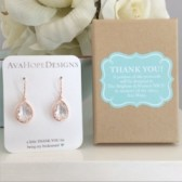 Bridesmaid earrings, Thank you for being my bridesmaid, bridesmaid gift, rose gold earrings