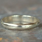 White Gold 3mm Wide Band