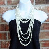 8 Strand Swarovski Pearl Necklace