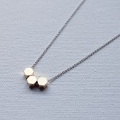 Hexagon Brass Necklace