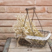 rustic wedding flower girl basket