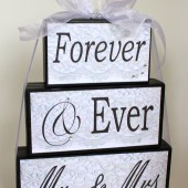 Forever and Ever Mr & Mrs Centerpiece