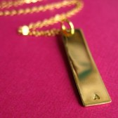 Gold Filled Initial Bar