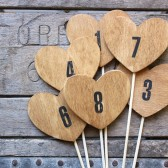 heart table numbers . rustic wood heart table numbers on a stick