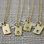 Personalized Bridal Party Necklaces