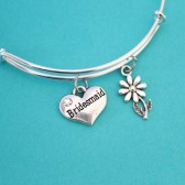 Bridesmaid,maid of honor, flower girl Bangles