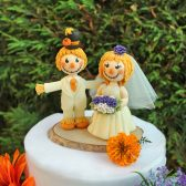 scarecrow cake topper, custom cake topper, wedding cake topper, hand made cake topper, fall cake topper, country wedding, barn wedding, Halloween cake topper