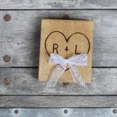personalized rustic ring bearer pillow alternative