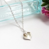 Calla Lily Birthstone Necklace