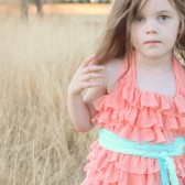 Peach Ruffle Flower Girl Dress