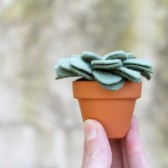 Small Fake Succulent Potted Plant