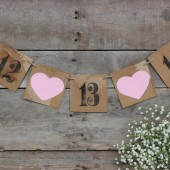 rustic engagement banner . wedding date photo prop
