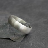 Men's Matte Sterling Silver Wedding Band