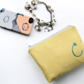 Personalized Clutch Bag with Embroidered Monogram