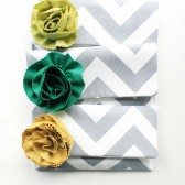 Bridal Clutch Set, Grey Chevron, Blue Green Aqua