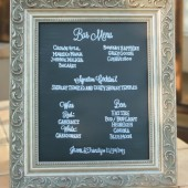 Chalkboard Bar Menu Sign