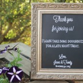 Chalkboard Wedding Favor Sign