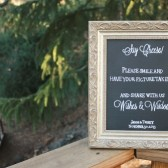 Chalkboard Wedding Guestbook Sign