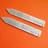 Latitude & Longitude Collar Stays