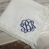 BLING Bridal Hanky Something Blue