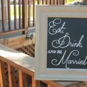 "Chalkboard Sign - ""Eat, Drink, and be Married"""