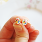 Floral Cameo Ear Posts