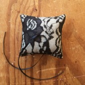 Black Lace ring-bearer pillow