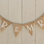 "Burlap ""Mr & Mrs"" Banner"