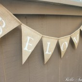 "Burlap ""Beloved"" Banner"