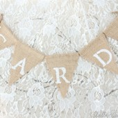 "Mini Burlap ""Cards"" Banner"