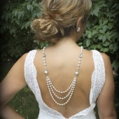 Vivienne Pearl Bridal Backdrop Necklace
