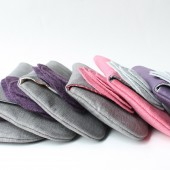 Bridal Clutch Purse Set, Pink, Purple, Grey