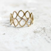 14k Gold Filigree Wedding Band
